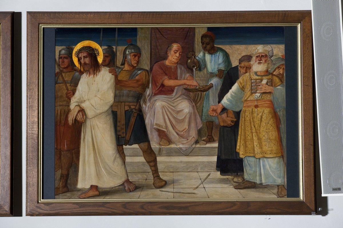 File Interieur Kruiswegstatie 1 Jezus Wordt Ter Dood