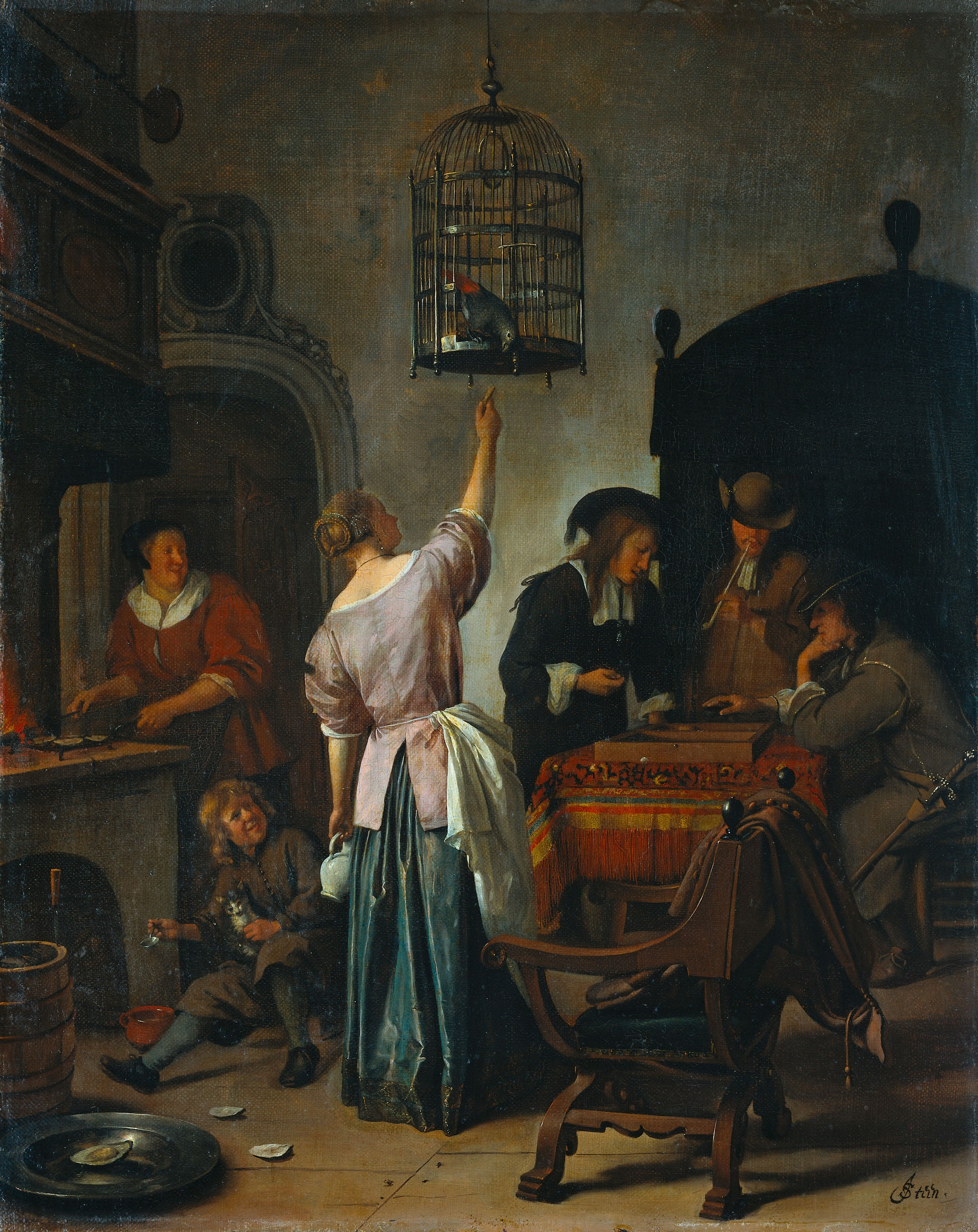 File jan steen wikimedia commons for Interieur steen