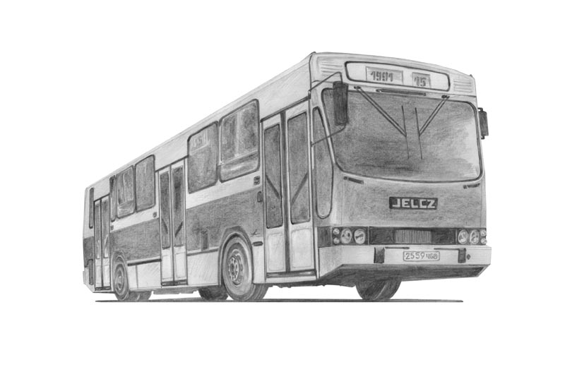автобус рисунок: