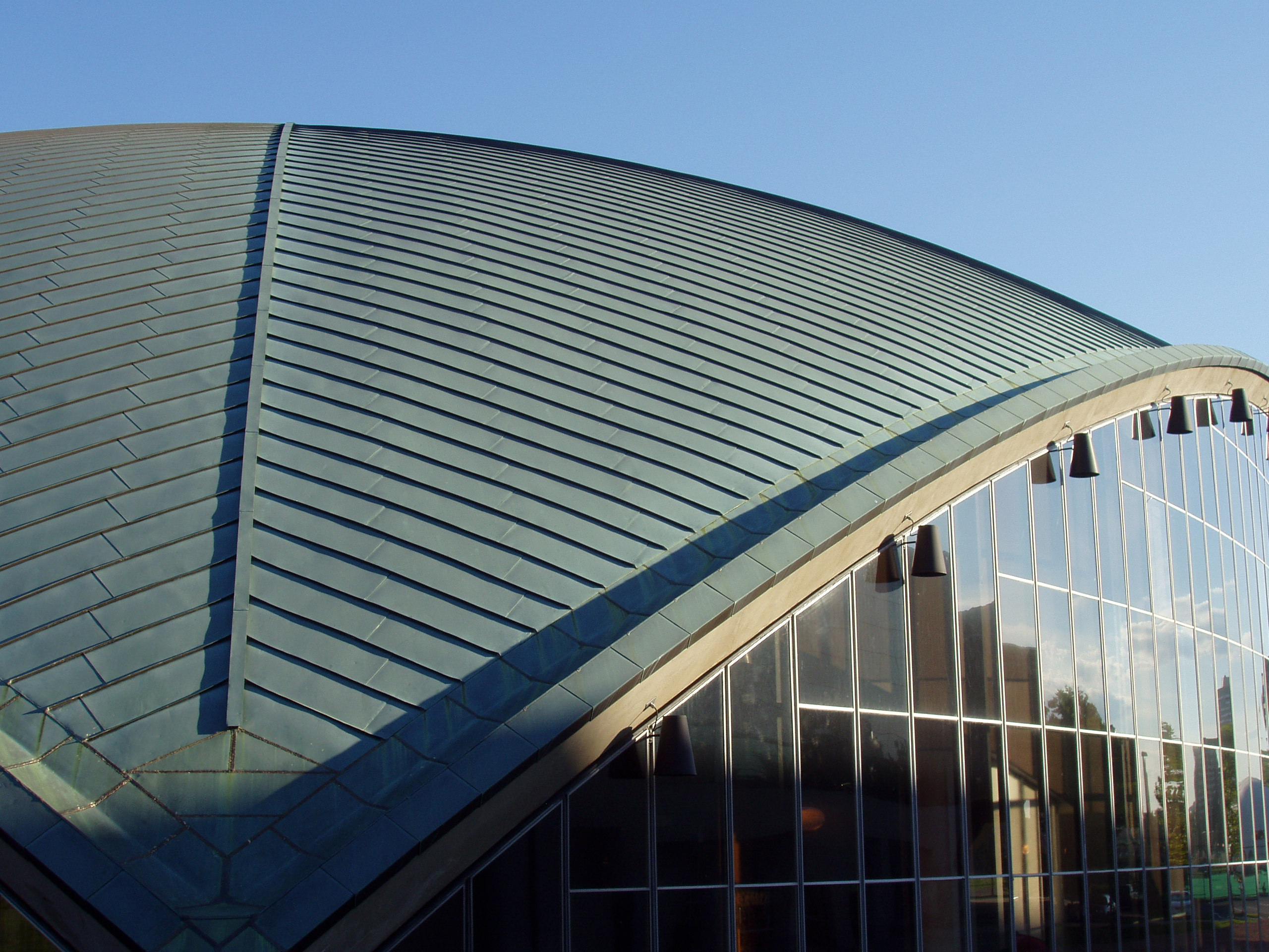 File kresge auditorium mit roof detail jpg wikipedia for Contemporary roofing materials