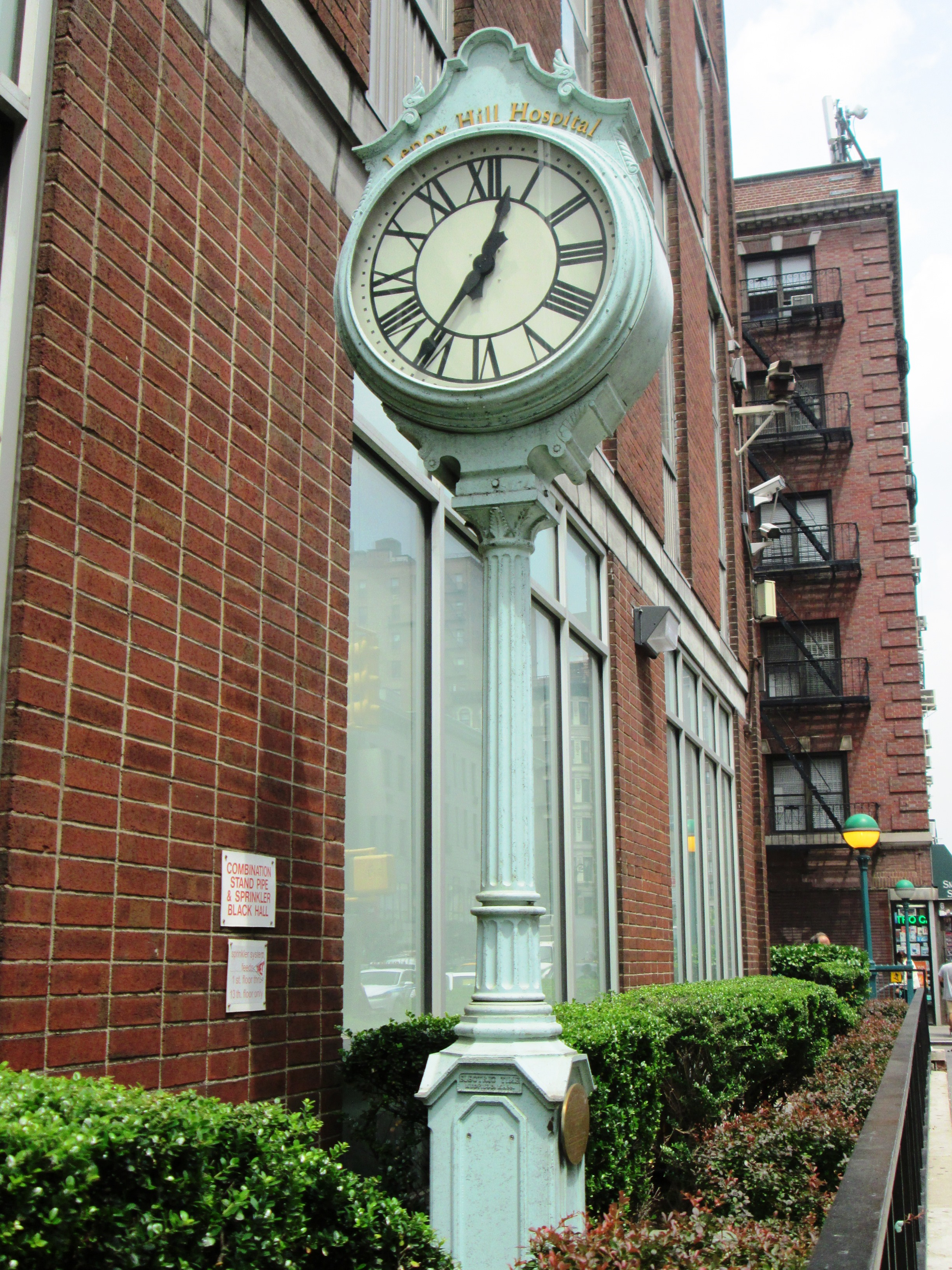 File:Lenox Hill Hospital sidewalk clock 1094 Lexington
