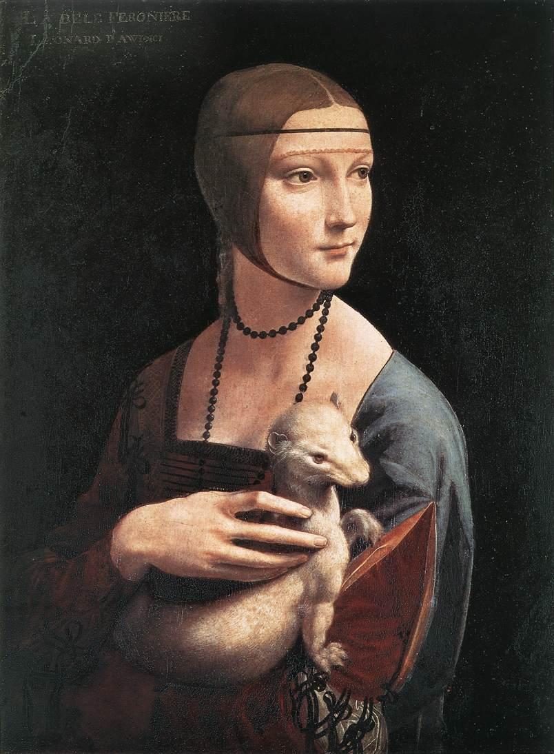 Дама с горностаем.  Цецилия Галлерани.