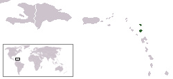 Location of Antigua me Barbuda