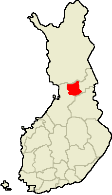 Location of Pudasjärvi in Finland.png