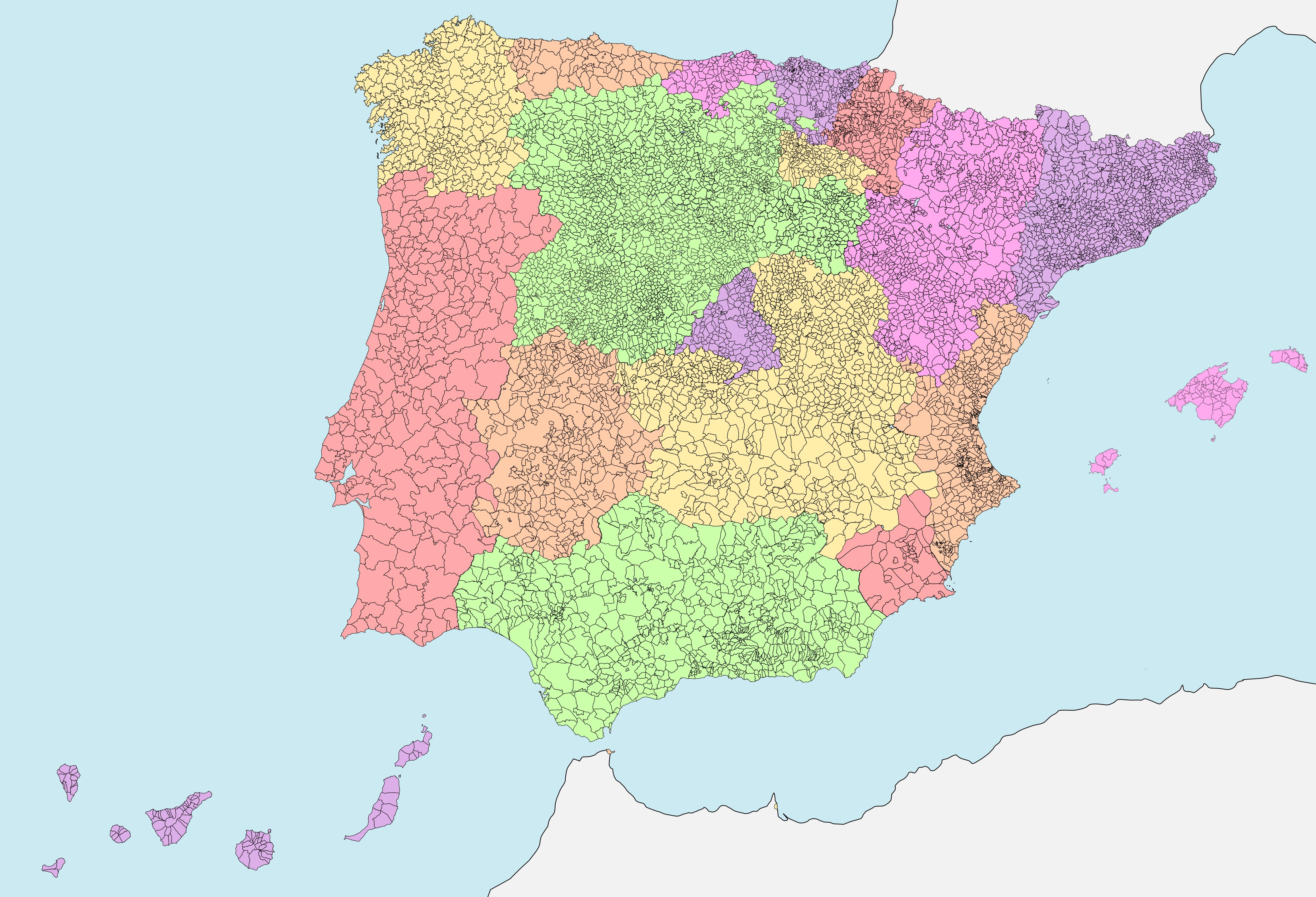 España Y Portugal Mapa.File Mapa Municipal De Espana Y Portugal Png Wikimedia Commons