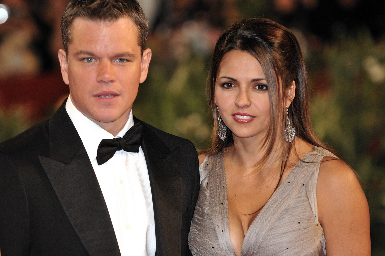 Matt Damon with cool, Wife Luciana Damon