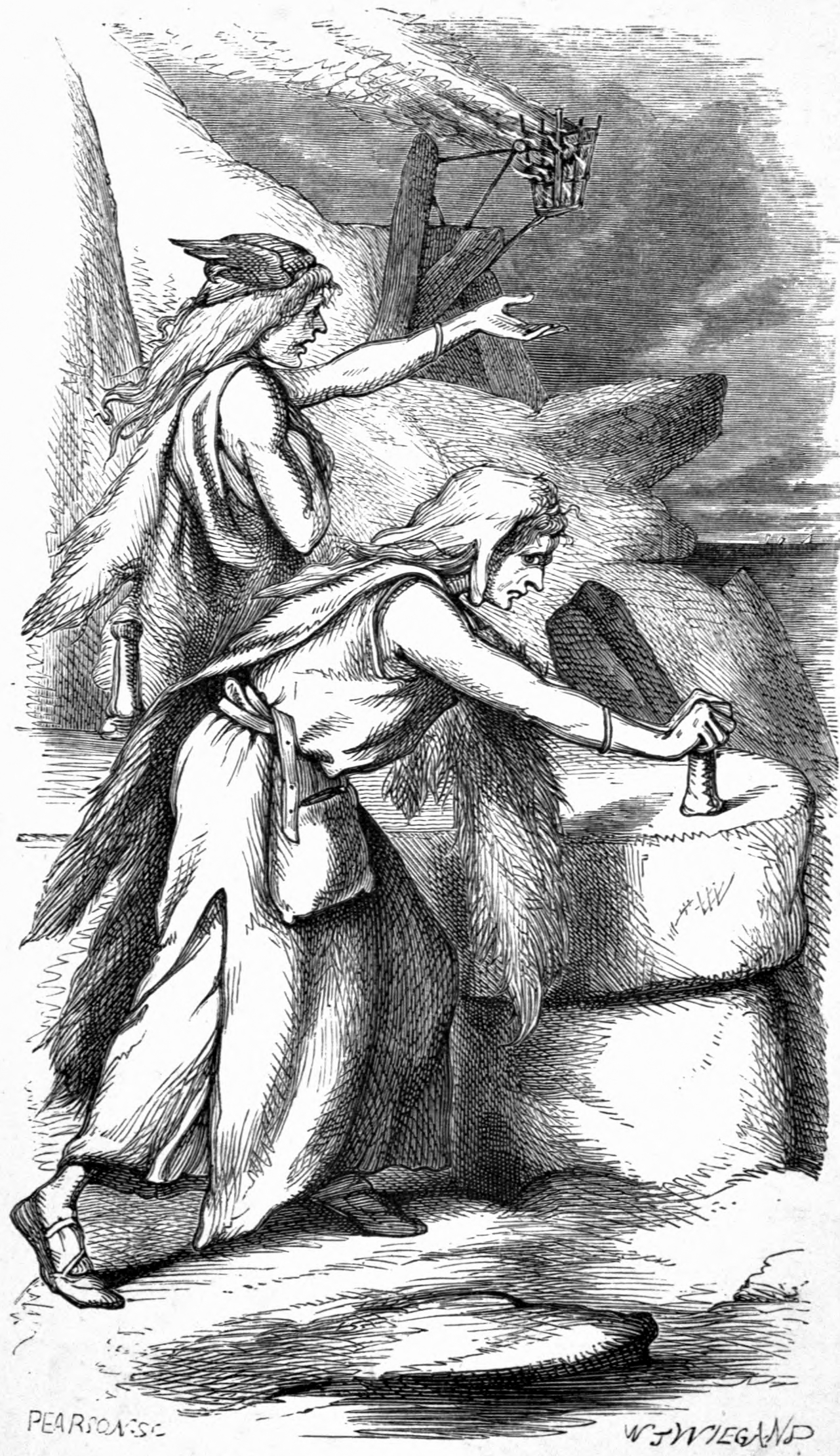 Grottasongr Is The Work Song Of Two Young Slave Girls Bought In Sweden By Danish King Frodi Are Brought To A Magic Grind Stone Out