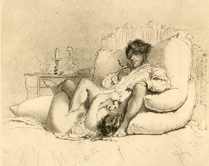 Mihály Zichy: (Making love) 1911