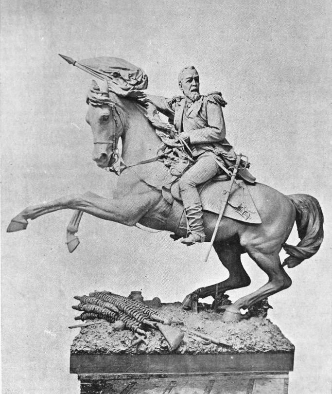 Monumento a Justo Rufino Barrios, obra del escultor Tomás Mur.
