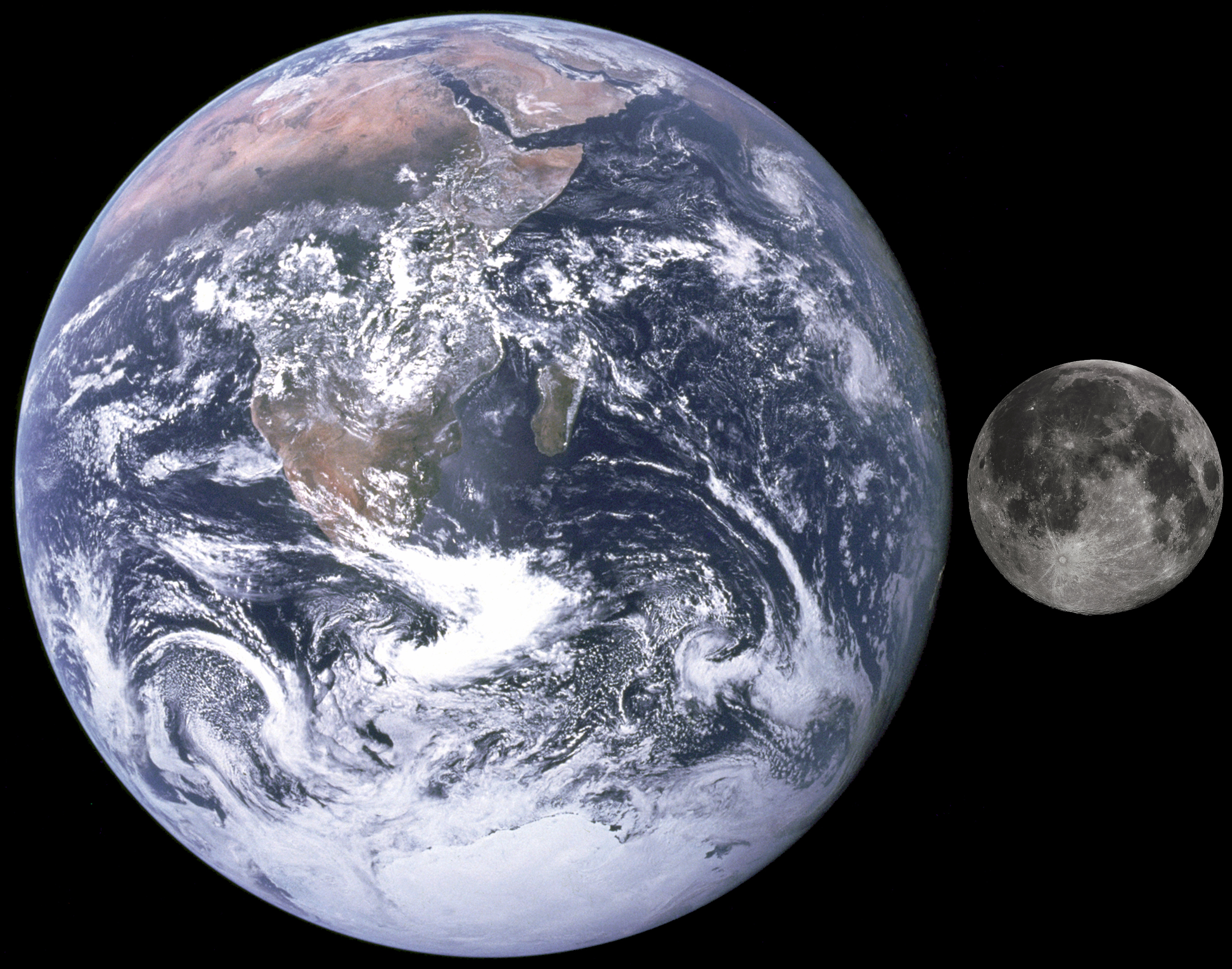 File:Moon, Earth size comparison.jpg - Wikimedia Commons