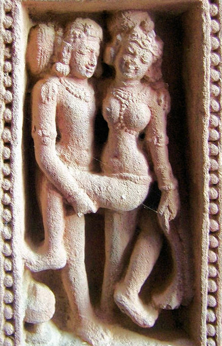 A Sexual Pose from Mukteswar Temple in Bhubaneswar, Orissa