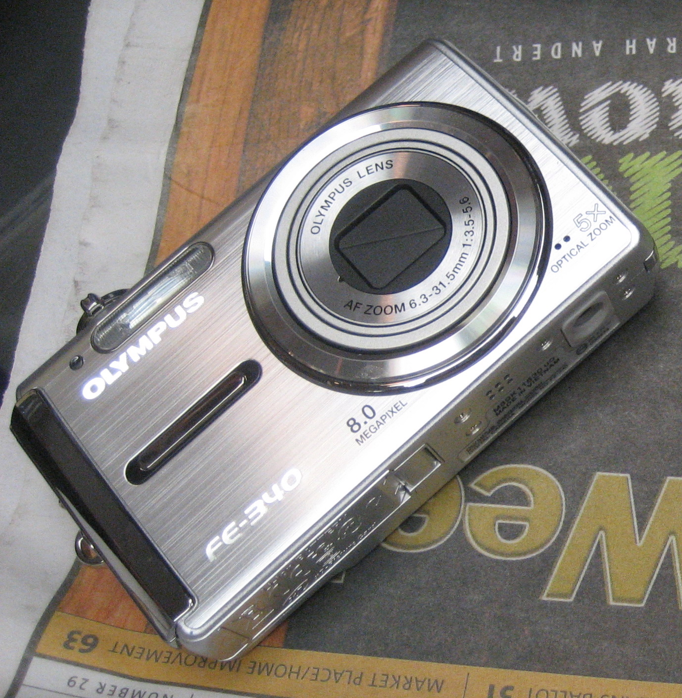 Photo Olympus Camera Olympus Fe-340 8mp Camera 01