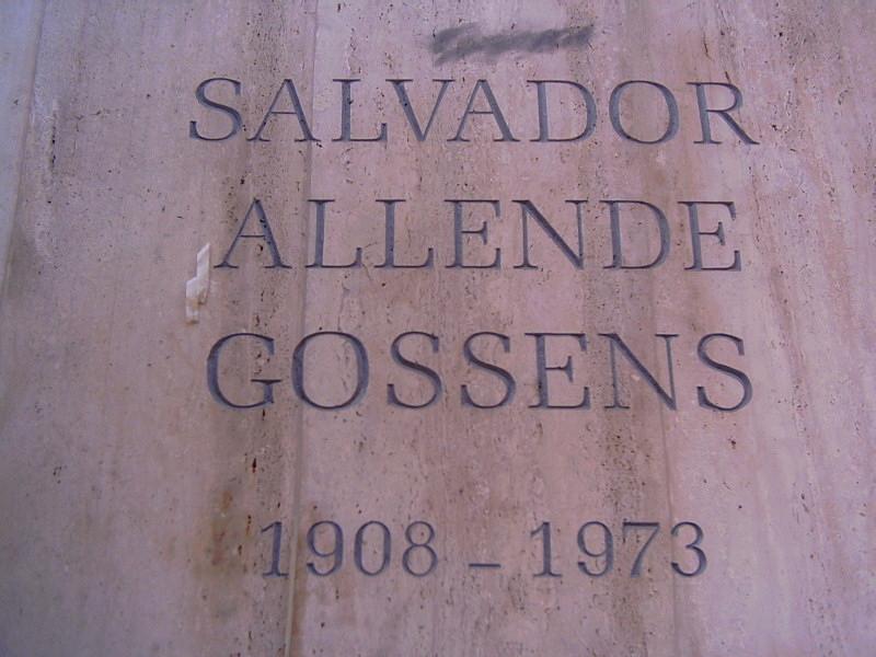 Tumba de Salvador Allende en el Cementerio General.