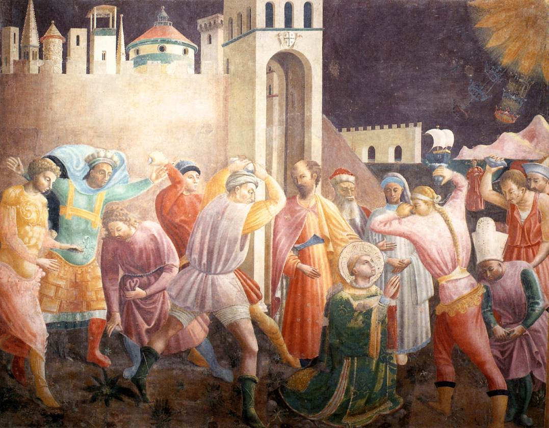 Stoning of Stephen by Paolo Uccello