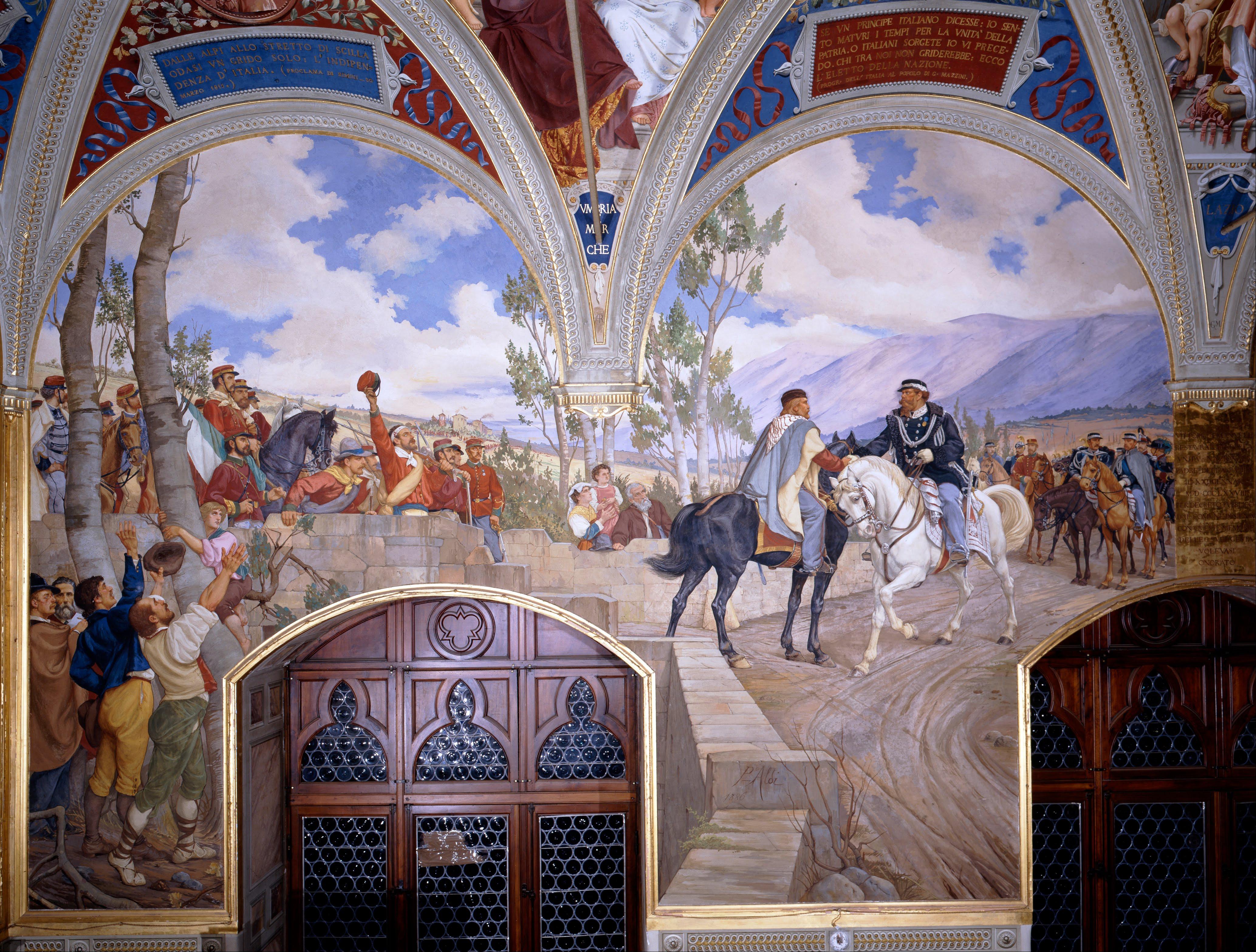 Encuentro Entre Giuseppe Garibaldi Y Víctor Manuel Ii