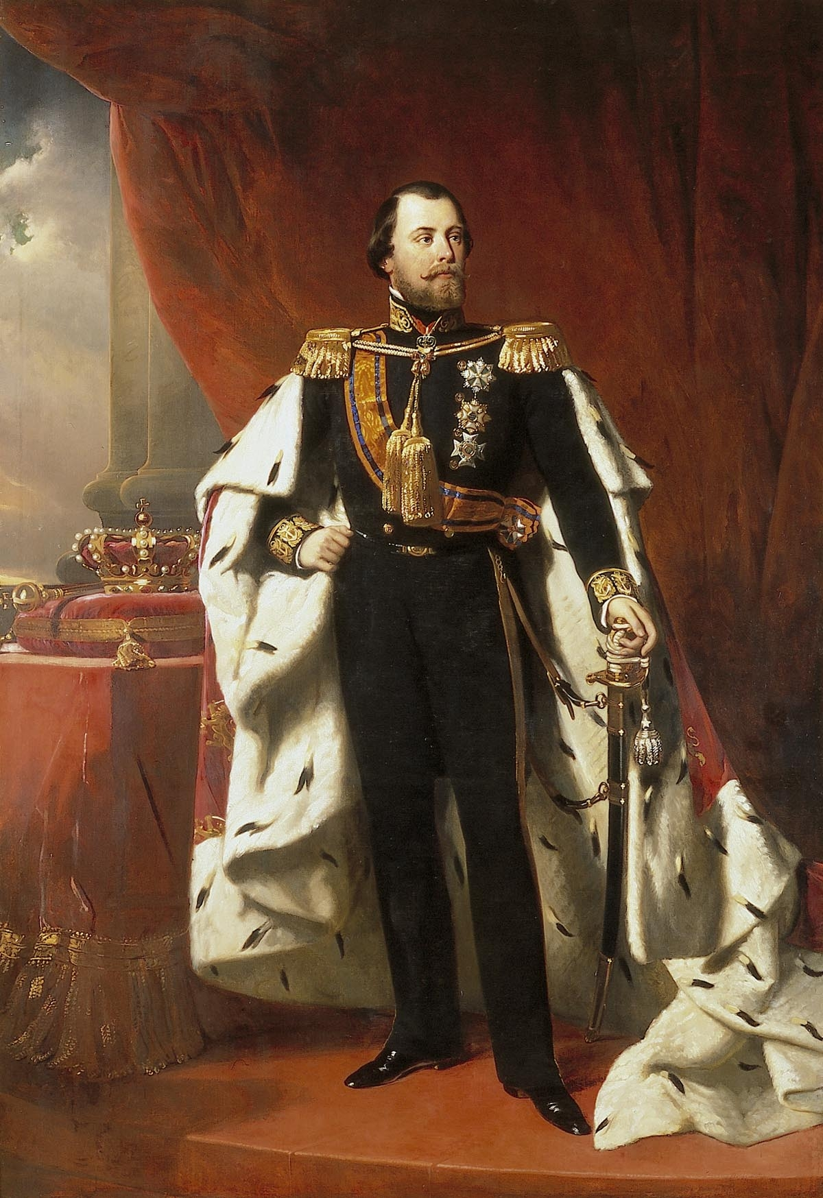 File:Portrait of King Willem III of the Netherlands ...  Royal