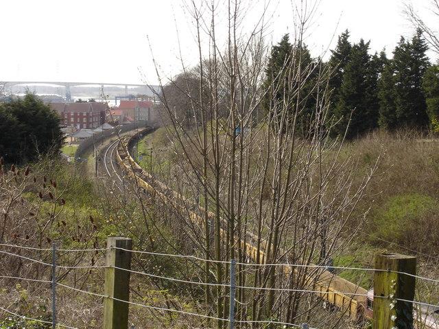 File:Railway line, Stoke Park - geograph.org.uk - 1237008.jpg