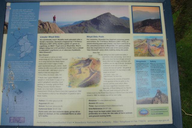 Rhyd Ddu path information board - geograph.org.uk - 1309874