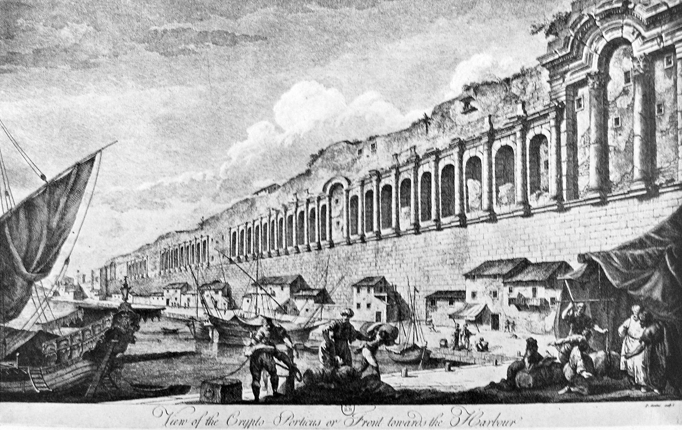 nengravingoftheseawardwallsofthecityofplit,roatiaplitbyobertdam,1764.hewallswereoriginallybuiltfortheomaniocletiansalace.