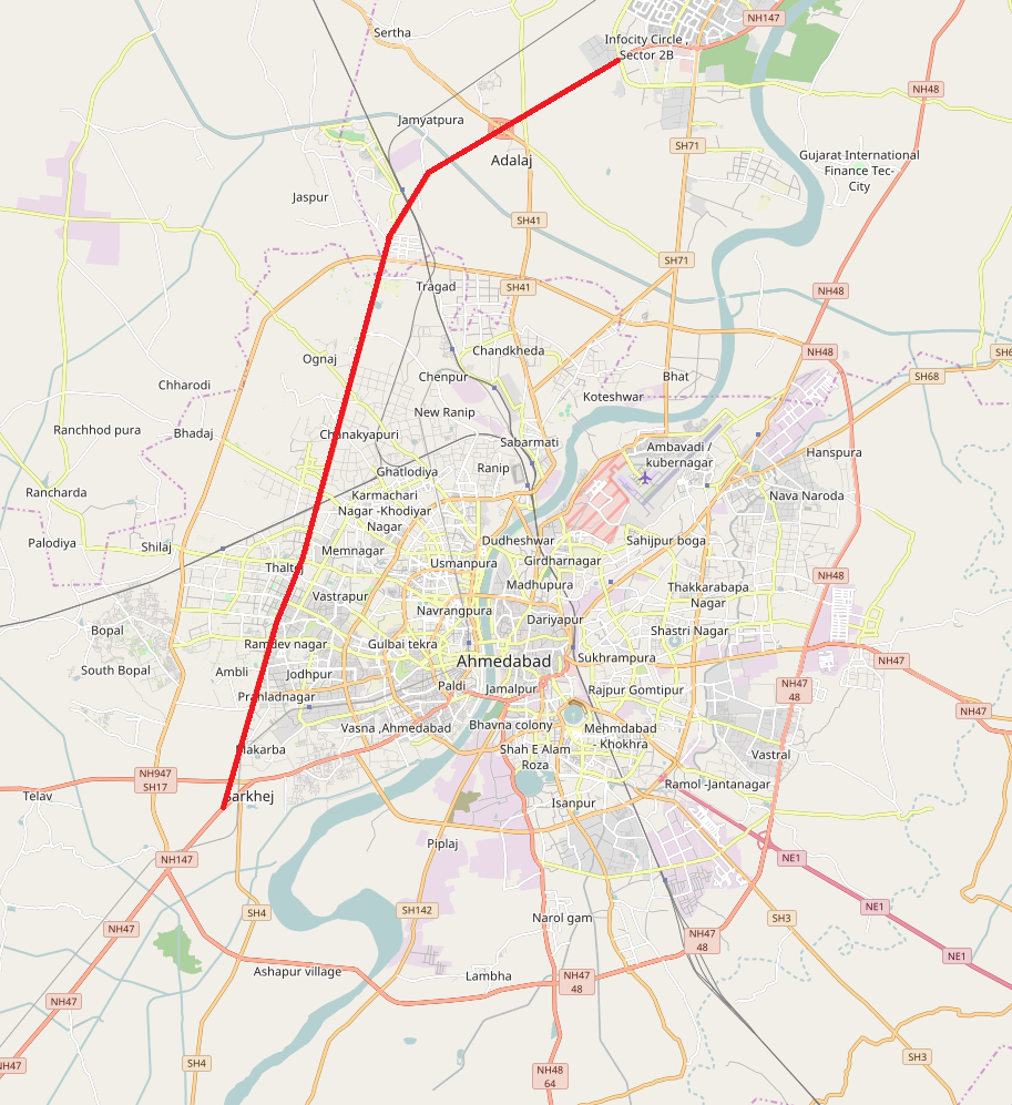 Sarkhej–Gandhinagar Highway - Wikipedia