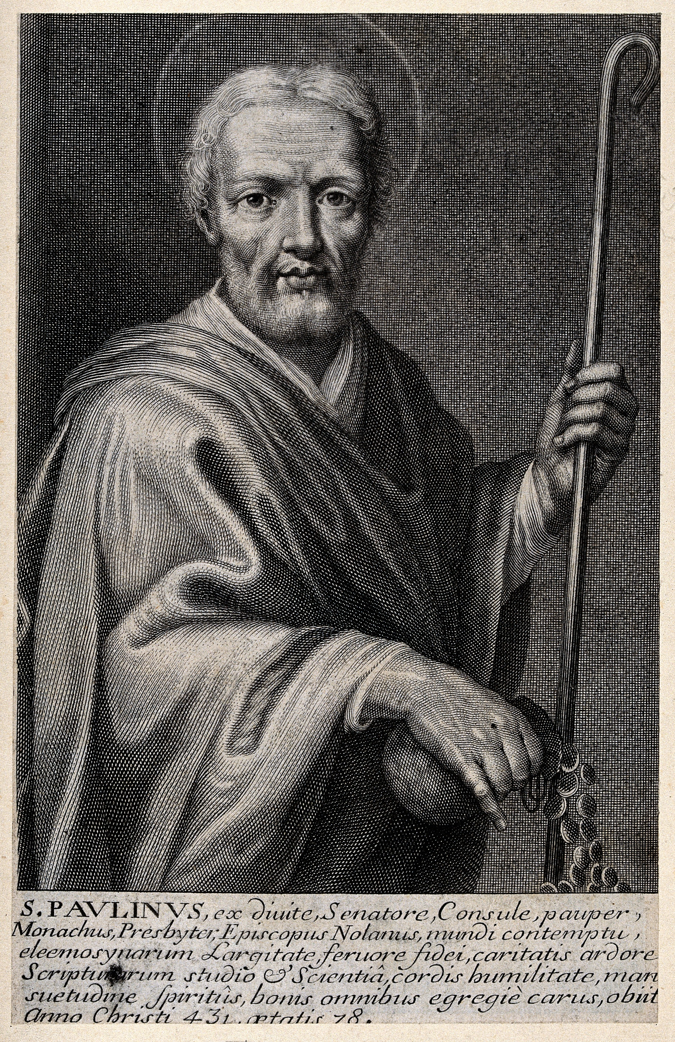Den hellige Paulinus av Nola, trykk