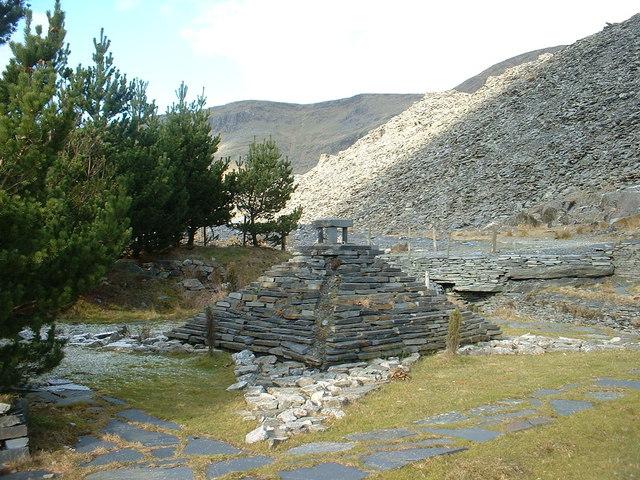Sculpture below Wrysgan Quarry - geograph.org.uk - 337166