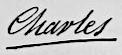 Charles X's signature