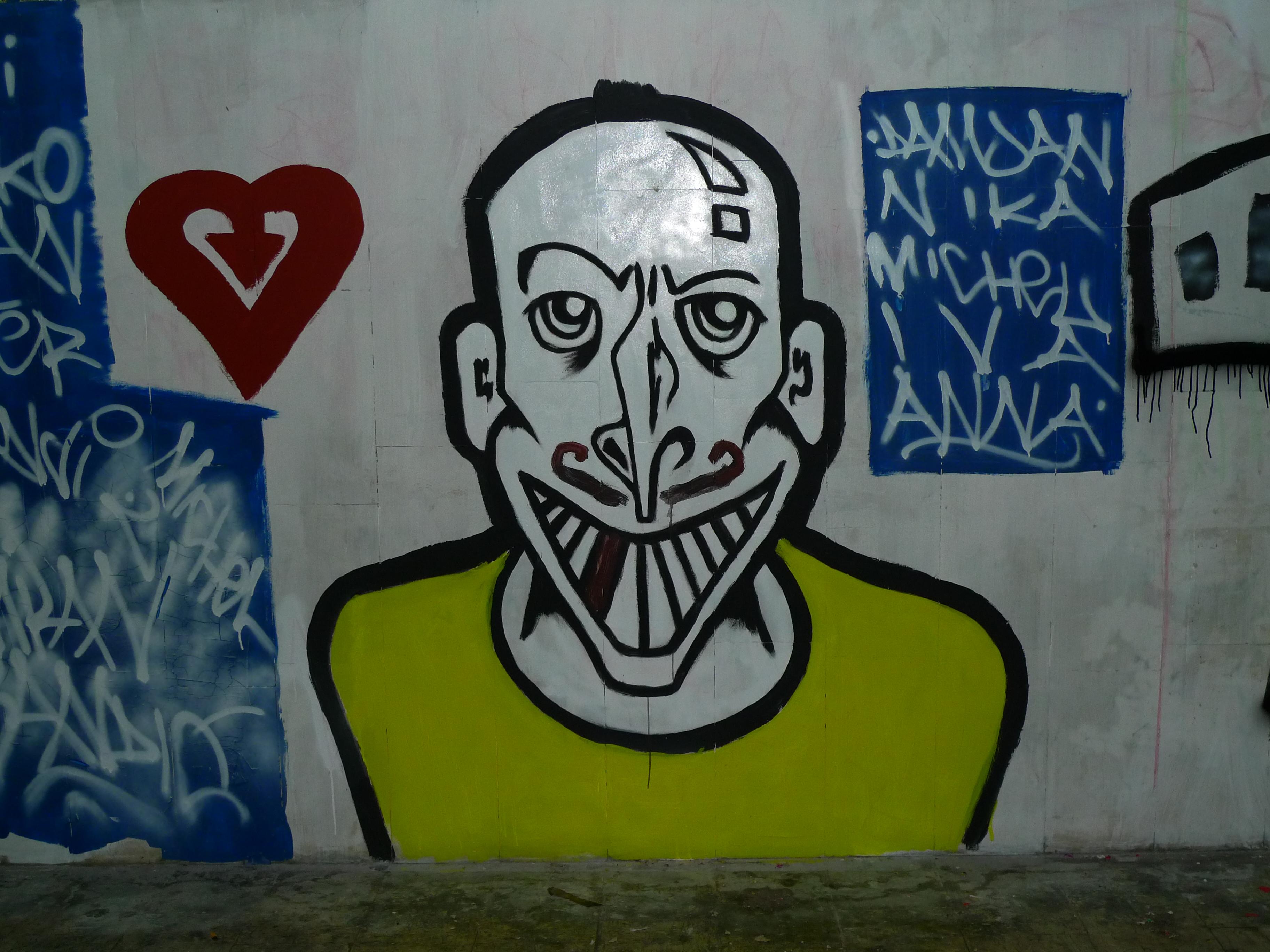Smiley Faces Graffiti #616D00