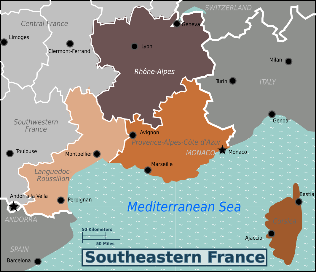 Map Of South East France.File Southeastern France Wv Map Png Png Wikimedia Commons