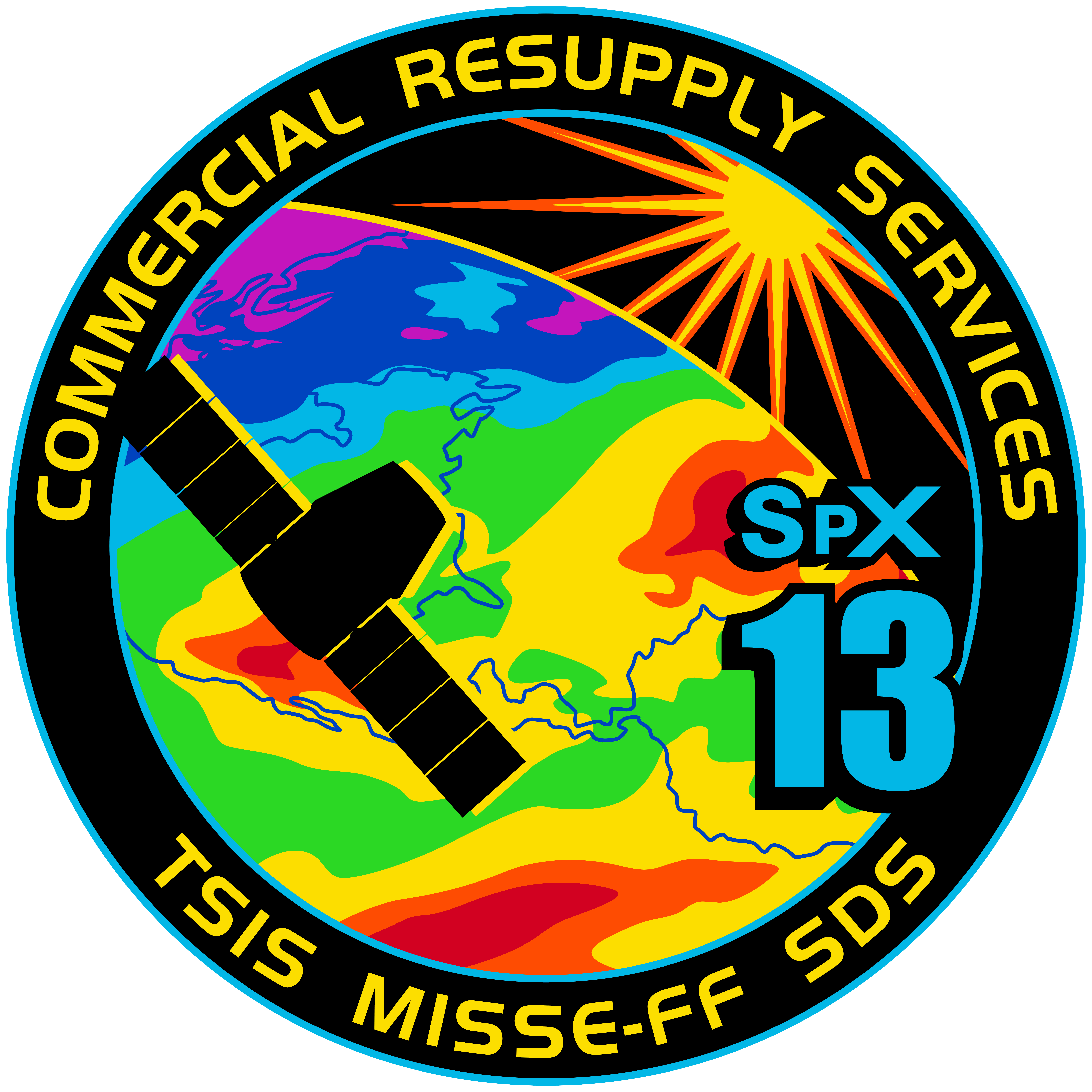 File Spacex Crs 13 Patch Png Wikimedia Commons