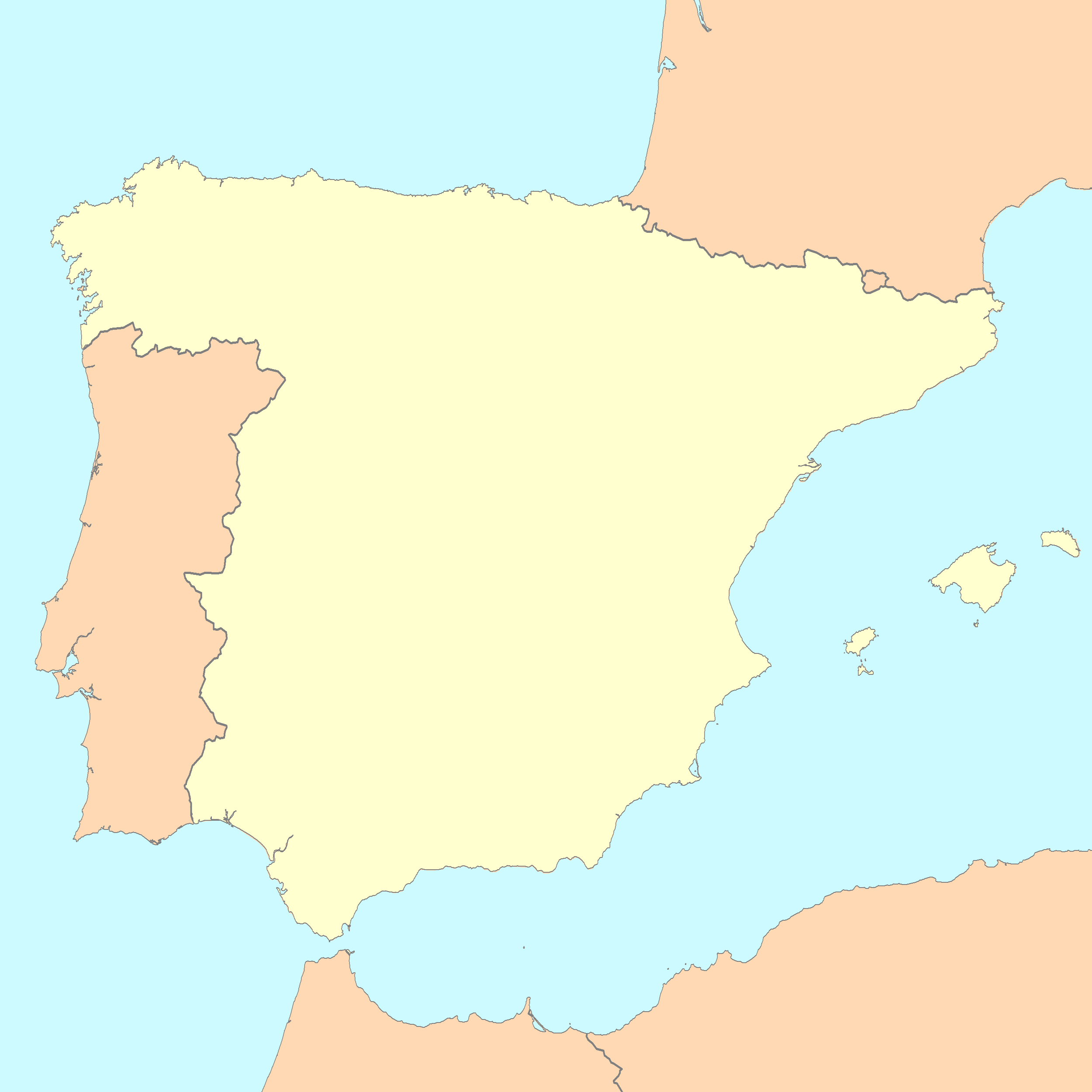 Free Printable Map Of Spain.File Spain Map Blank Png Wikimedia Commons