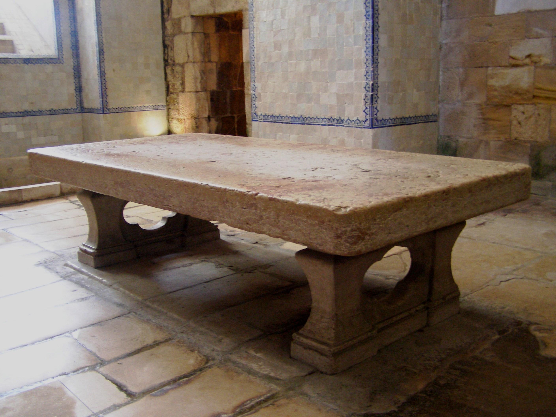 File Stone table Alcobaça Monastery Wikimedia mons
