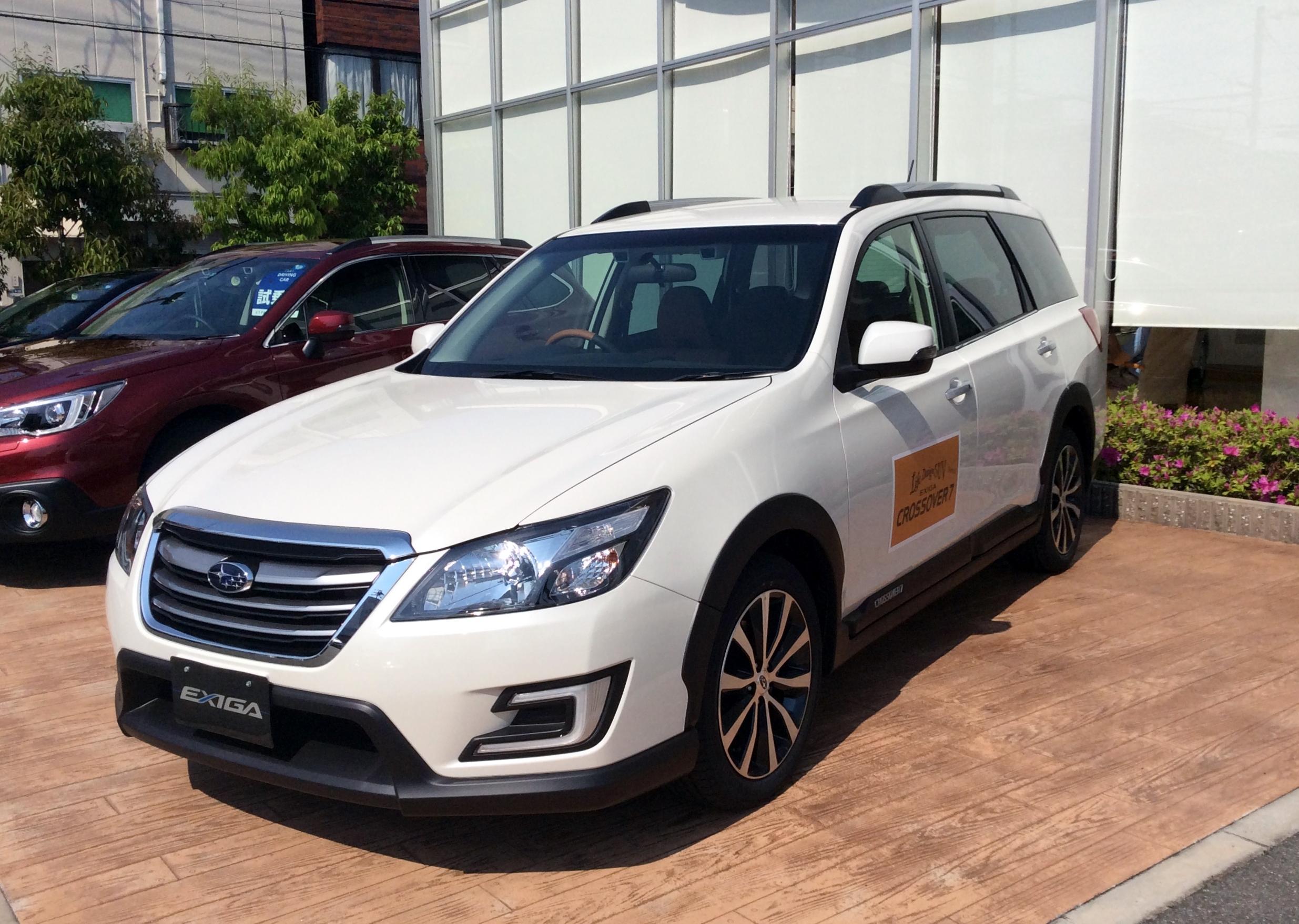 Subaru 8 Seater >> File:Subaru EXIGA CROSSOVER 7 (YAM) front.JPG