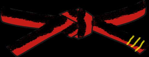 File:Universal Taekwondo UTD mochi696 Black red 3 pum belt svg.png
