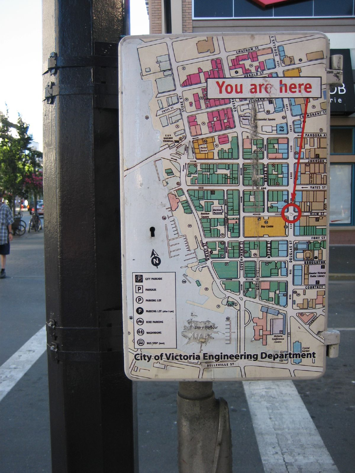 The City of Victoria in Canada covered a utility box with a map showing your location