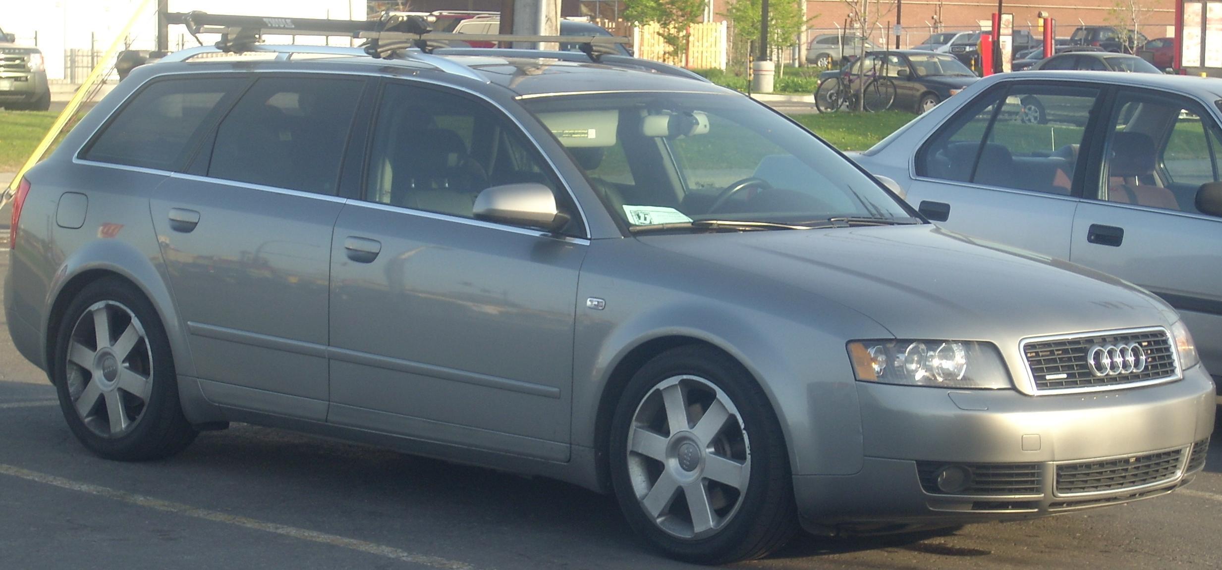 File:'02-'05 Audi A4 Avant 3.0 Front (Orange Julep).jpg - Wikimedia