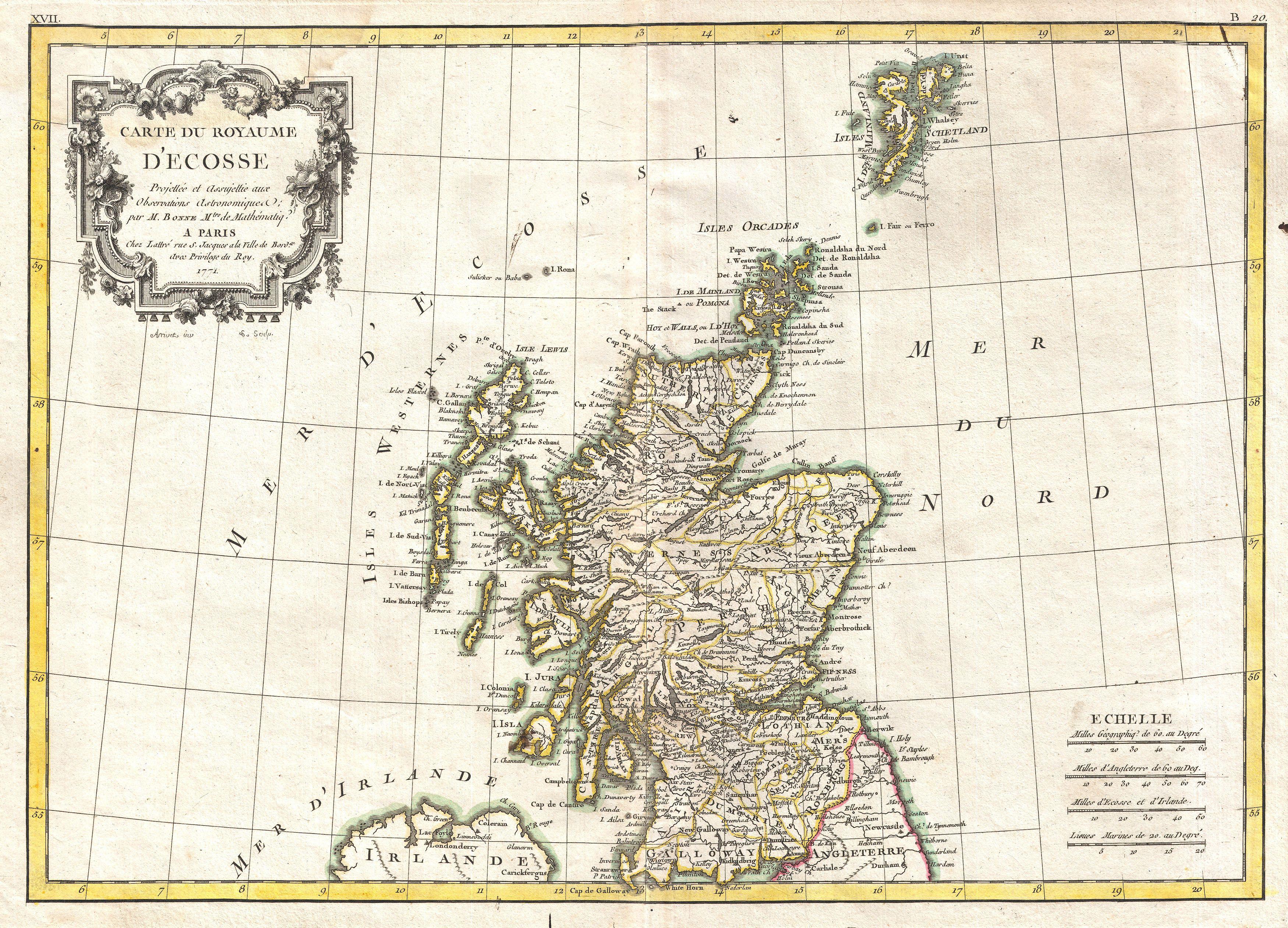 File:1772 Bonne Map of Scotland - Geographicus - Scotland-bonne-1772