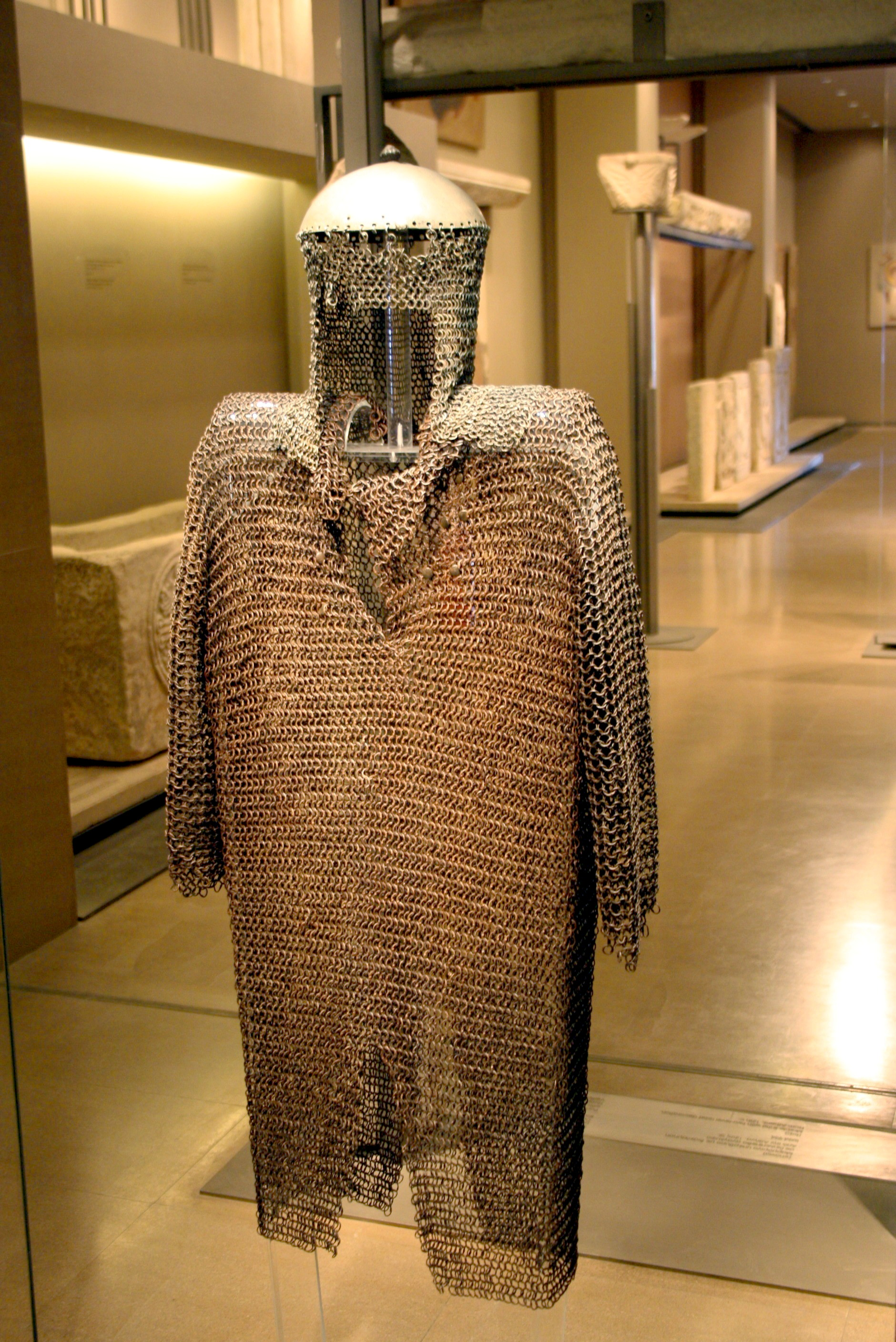 File:1953 - Byzantine Museum, Athens - Iron chain mail ...