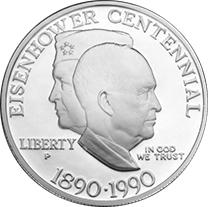 Eisenhower Centennial silver dollar