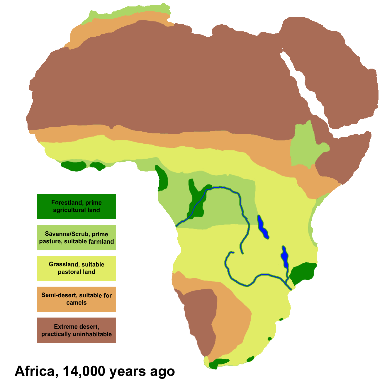 africa climate regions map File Africa Climate 14000bp Png Wikimedia Commons africa climate regions map
