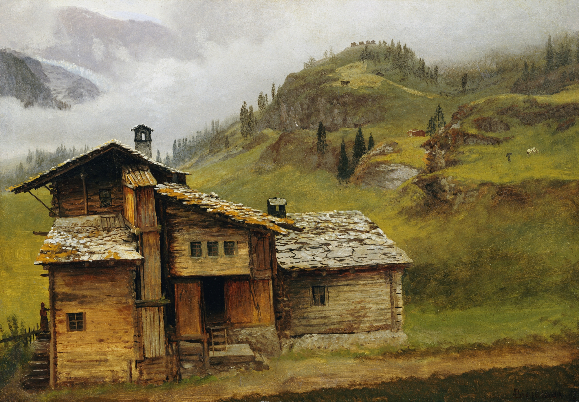 File albert bierstadt mountain wikimedia commons for Home painting images