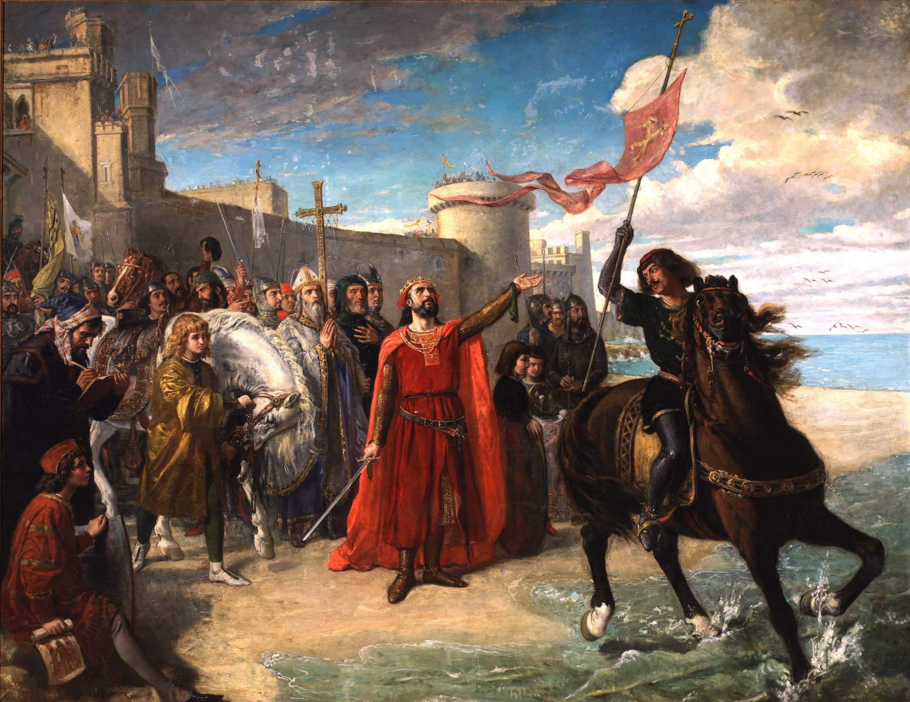 File:Alfonso_X_el_Sabio_tomando_posesi%C3%B3n_del_mar_despu%C3%A9s_de_la_conquista_de_C%C3%A1diz._Mat%C3%ADas_Moreno._1866 on 1492 In Art