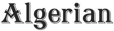 Algerian Font Free