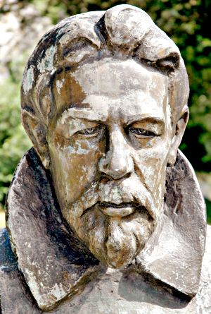 Bust of Chekhov at Badenweiler