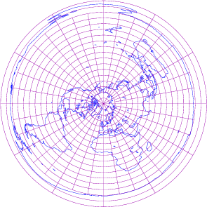 Mapa realizado con proyección plana