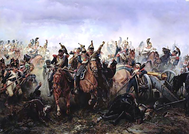 ===La guerra en la pintura=== Battle_of_La_F%C3%A8re-Champenoise_1814