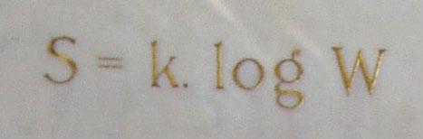Image result for s = k log w