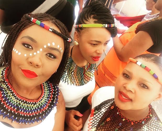 File:Bridesmaids At A Xhosa Wedding In Zulu Attire.jpg