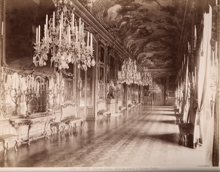 Archivo: Brogi, Giacomo (1822-1881) - n.  3684 - Torino - Palazzo Reale -. Sala dei pranzi di Daniele Seyter (1870) jpg