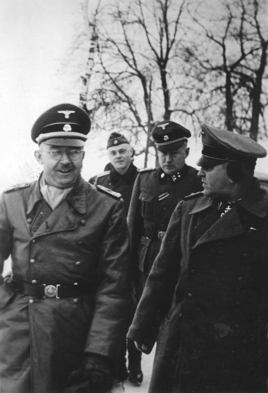 Himmler und Eicke an der Ostfront (Januar 1942), Aufnahme einer SS-Propagandakompanie